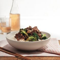 Sesame beef and broccoli vermicelli bowl - Chatelaine