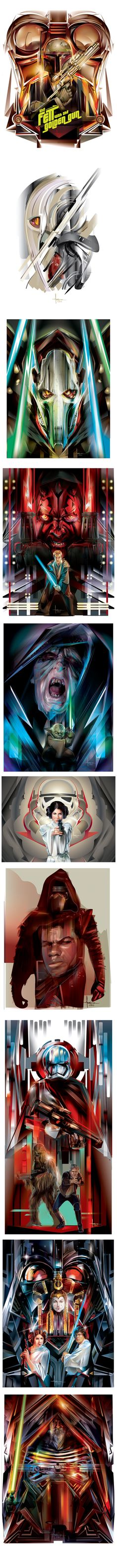 STAR WARS Vector tribute by Orlando Arocena