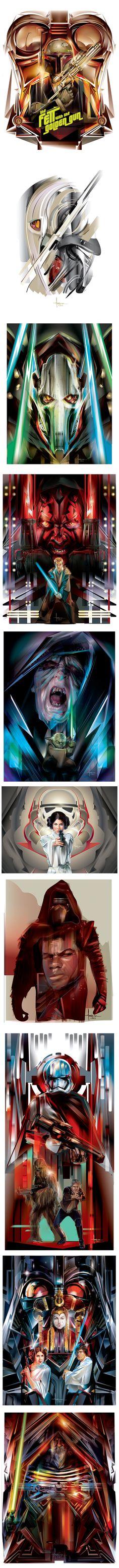 STAR WARS Vector tribute by Orlando Arocena