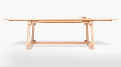 Gear-Equipped Wooden Table Mixes the Modern + Traditional
