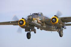 """B-25 Mitchell Bomber, """"Heavenly Body""""."""