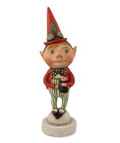 Debra Schoch Christmas Elf for Bethany Lowe. Fun Christmas Decorations.