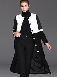 High-End Stitching Slim Long Coat