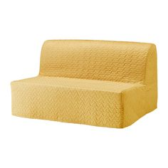 IKEA - LYCKSELE LÖVÅS, Sofa bed, Vallarum yellow, -, , Cover made of extra durable polyester with a quilted, soft texture.A simple, firm foam mattress for use every night.Easily converts into a bed big enough for two.The cover is easy to keep clean as it is removable and can be machine washed.Extra covers make it easy to give both your sofa and room a new look.