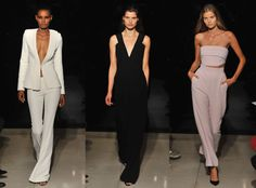 Brandon Maxwell from Best Shows at New York Fashion Week Spring 2016  Maxwell's slinky pantsuits, plunging rompers and sexy crop top and trouser combos seem fit for a Kardashian (or Lady Gaga, who he actually styles).