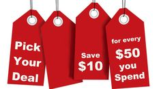 Save $10 for every $50 you spend at our online store for a limited time.