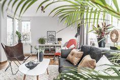 appartement contemporain - salon #decoration #design #mobilier #scandinave