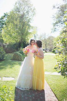 yellow bridesmaid dress | Gracie Blue #wedding