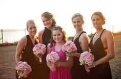 All the lovely maids / Photographed by Julie Dreelins' Beach Productions http://www.outerbanksweddingassoc.org/membersearch/memberpage.html?MID=1872=Videographers=21