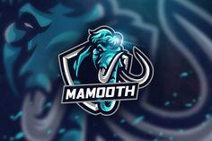Blue Mamooth - Mascot & Esport Logo by aqrstudio on Envato Elements Game Logo Design, Badge Design, Logo Desing, Vector Design, Graphic Design, Panther Logo, Esports Logo, Youtube Channel Art, E Sport