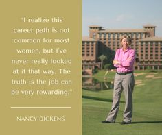 Golf Inc. has announced their Operators of the Year, and Nancy Dickens, The Westin Kierland Golf Club, sits atop the list for resort courses.