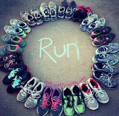 Great XC picture with everyone's running shoes!