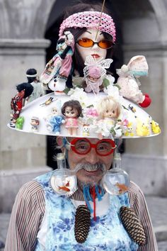 """eijiro miyama - Japanese outsider artist.  """"outsider artist"""" is just a weird old guy with a doll fetish and a taste for memaw housecoats. A big nope."""