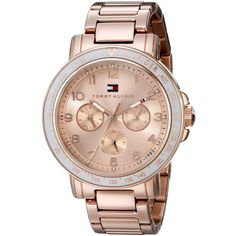 9ede55fdc48454 Shop for Tommy Hilfiger Women's Rose Gold Stainless Steel Quartz Watch. Get free  delivery at Overstock - Your Online Watches Store!