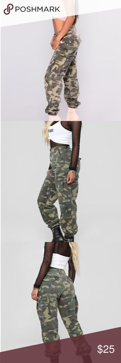 3877686670d5c My Posh Closet · NWT Nova Cadet Kim Camo Pants Large Fashion Nova Cadet  Kim Camo Pants. Large.