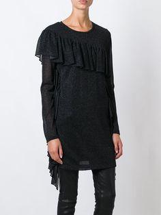Mm6 Maison Margiela платье-свитер с бахромой