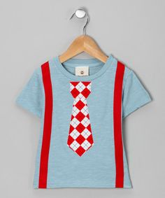 Suspender Tie Tee on #zulily