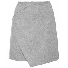 Cross Over Mini Skirt in Gary (1 010 UAH) ❤ liked on Polyvore featuring skirts, mini skirts and grey
