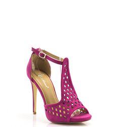 Piękne różowe sandałki na szpilce <3