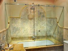 chiusura scorrevole per vasca da bagno