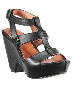 Ariat Black Strap Wedge Sandals