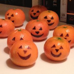 """**pinning for when its our turn to bring the prepackaged snack for preschool** Preschool snack """"Pumpkins"""" from clementines."""