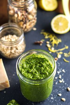 Make pesto cheaper with Walnuts and Spinach!  Pesto is sooo simple to make!  Just throw everything in a food processor and voila...PESTO.