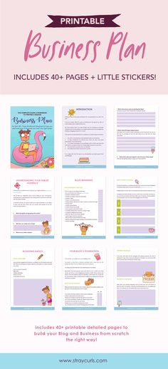 Get this super cute Business Plan that will help you start and grow your Blog and Business from scratch the right way! Learn how to identify your niche, study your competition, set monetizing strategies, discover your blog's foundation, set your business goals, define your branding and more! #bloggingtips #blogplanner #planning #productivity #business #girlboss #printable