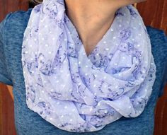 Spring infinity scarf cowl neck tie summer by ValkinThreads, $28.00