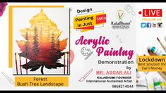 In this video, you will learn how to paint a Sunshine painting with forest Bush trees in just 5 min. you can earn money from paintings in this 2020 lockdown. Design daily painting in quantity and sell them  This is a unique and creative painting technique, demo given by Kalabhumi Founder Asgar Ali (international Acclaimed Artist) The best home painting technique Acrylic Painting Tutorials, Painting Techniques, Learn To Paint, House Painting, Earn Money, Fine Art, Learning, Creative, Artist