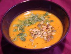 Ada w kuchni: Wegańska zupa (krem) dyniowo - imbirowa