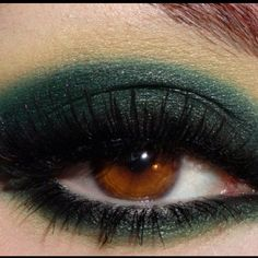 Gorgeous emerald tones for brown eyes. Done it, LOVE IT!
