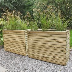 Buy the Forest Garden Linear Planter today! Balcony Planters, Garden Planter Boxes, Wooden Garden Planters, Tall Planters, Square Planters, Tall Planter Boxes, Balcony Ideas, Back Garden Landscaping, Backyard Privacy