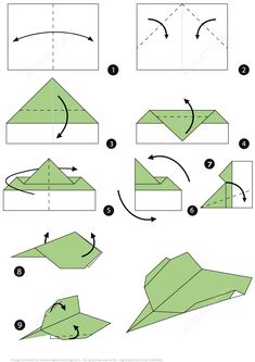 Learn these tips for how to make origami paper crafts to beginner level. Origami is a sort of paper craft that involves folding Single Square of paper into sculpture. Origami is considered an ancient art from Japanese and it… Continue Reading → Paper Airplane Steps, Paper Airplane Folding, Origami Paper Plane, Origami Airplane, Airplane Crafts, Origami Ball, Paper Crafts Origami, Paper Folding For Kids, Fun Origami