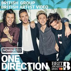 One Direction are nominated for two awards at this year's @BRITs! #BRITs