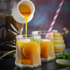 Mango Iced Tea is a delicious, sweet and tangy refreshing beverage that is the most perfect in the heat of summer.