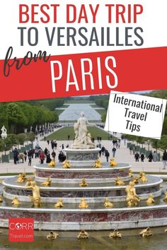 Get the best day trip to Versailles from Paris by train international travel tips so you know when and how to beat the crowds in your #Paris over 40 travel and solo travel. By @CORRTravel #CORRTravel I Iintnternational Travel Tips | Travel Tips and Tricks | Solo Travel Tips | Travel Planning | France Travel Guide | Travel Guides | Solo Travel Destinations | Over 40 Travel | Retirement Travel Ideas Paris Travel Tips, Solo Travel Tips, Europe Travel Guide, France Travel, Travel Destinations, Travel Ideas, Budget Travel, Day Trip From Paris, International Travel Tips
