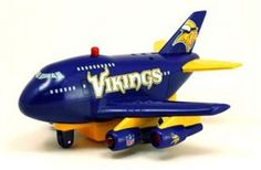 Minnesota Vikings Pullback Airplane Toy, 2015 Amazon Top Rated Pull Back Vehicles #Toy