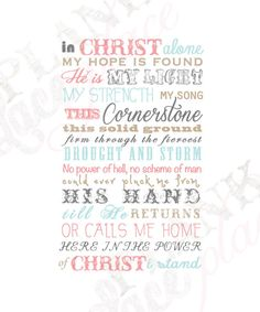 In Christ Alone poster