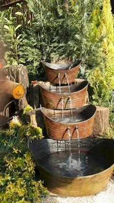 fantastic garden waterfall for small garden ideas 00028 - DIY Garten Landschaftsbau Backyard Water Feature, Ponds Backyard, Backyard Landscaping, Backyard Ideas, Desert Backyard, Garden Ponds, Water Falls Garden, Water Falls Backyard, Rocks Garden