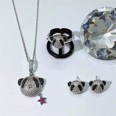 2834c759ce Mocai Fashion Animal Shape Cute Panda Jewelry Brand Design New AAA Cubic  Zirconia Pendant & Necklace Ring Earrings zk40-in Jewelry Sets from Jewelry  ...