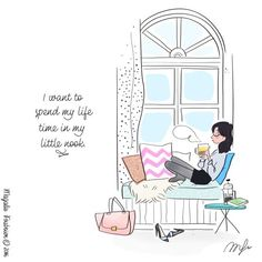 Laugh-out-loud funny bookworm memes about a book lover's perfect day. All we really need is books, tea, and a comfortable place to read! Art And Illustration, Girl Illustrations, I Love Books, My Books, Reading Books, Buch Design, Girly, Book Nerd, Book Lovers