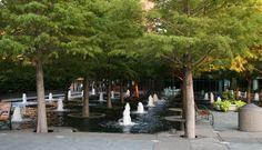 Fountain Pools, at Fountain Plaza, Dallas, Tx.
