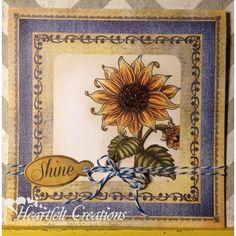 Heartfelt Creations - Sunflower Shine Project