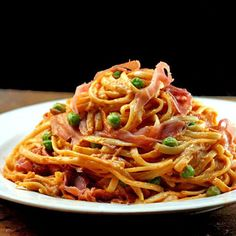 Creamy Tomato Parmesan Linguine with Peas and Prosciutto, and Part 22