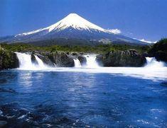 Volcán Osorno, Saltos del Petrohué, Parque Nacional Vicente Pérez Rosales, Chile