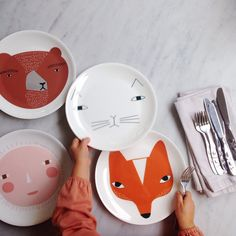 Mealtime made more fun with these pretty plates from Donna Wilson
