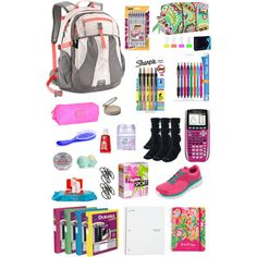 """Back to school essentials"" by cb14 on Polyvore"