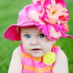 Passion Fruit Punch Baby Girl Sun Hat #Melondipity