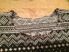 Cutting the neckline in Stranded and fairisle knitting. Fair Isle Knitting, Ravelry, Beauty, Neckline, Black, Tops, Women, Tutorials, Fashion